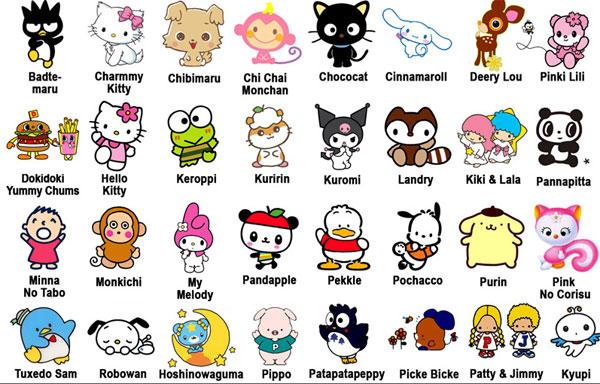 Amigos para etiquetar con Hello Kitty