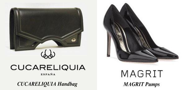 Queen Letizia's CUCARELIQUIA Handbag and MAGRIT Pumps