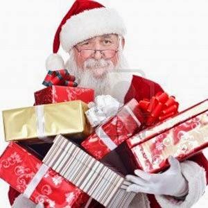 imagen de papá noel con regalos