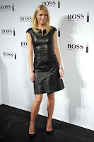 Gwyneth Paltrow in a leather dress on the red carpet