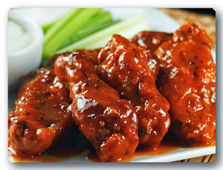 menu malam tahun baru hot chicken wings