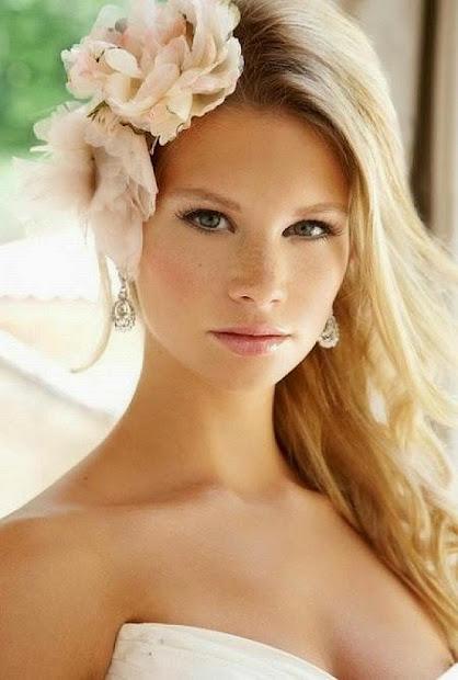 wedding hair flowers short