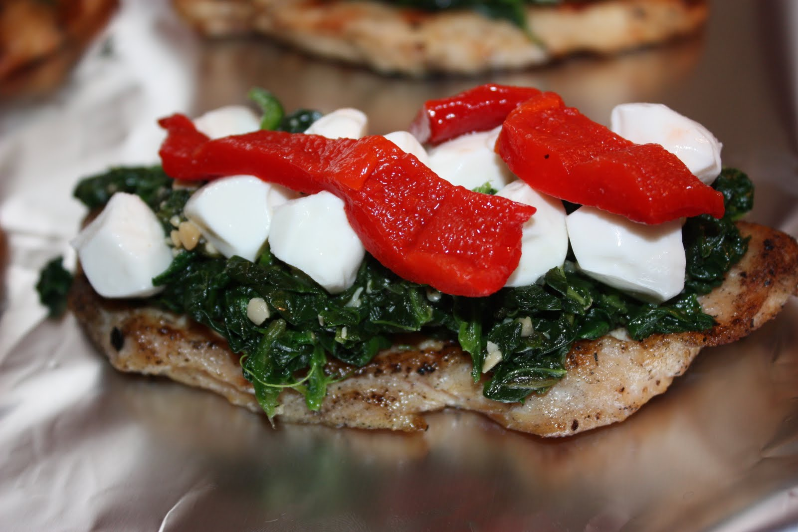 cooking with crystal: Grilled Chicken with spinach & mozzarella