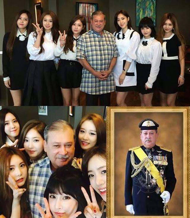Foto T-ara Bersama Sultan Johor Jadi Perhatian Di Laman Sosial