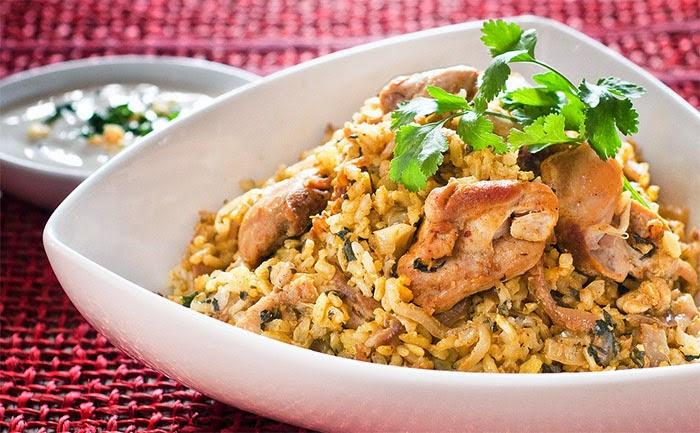 الدجاج بالأرز البسمتي وصفة وجبة طبيعية لزيادة الوزن سريعا