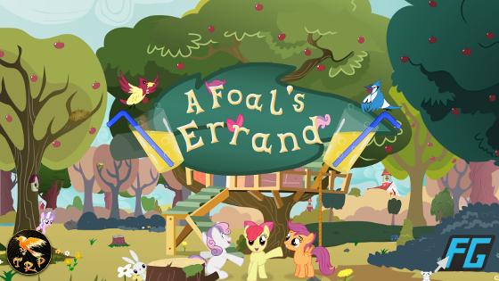 A Foal's Errand title screen