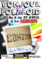 Affiche Expo Bonjour Polaroid