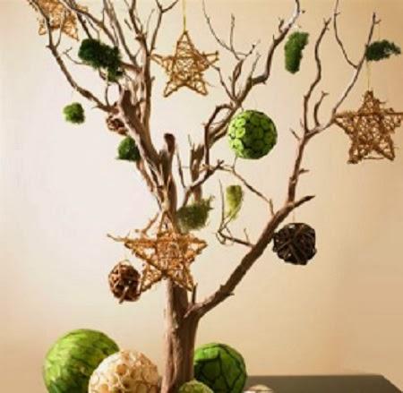 Arboles de navidad con ramas secas adornos - Ramas de arbol para decoracion ...
