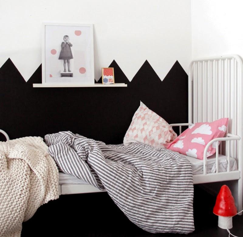 Ideas de cómo decorar un dormitorio infantil en blanco y negro ...