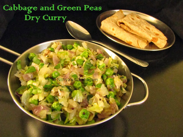 Cabbage and Green Peas Dry Curry | Cabbage and Green Peas stir fry ...