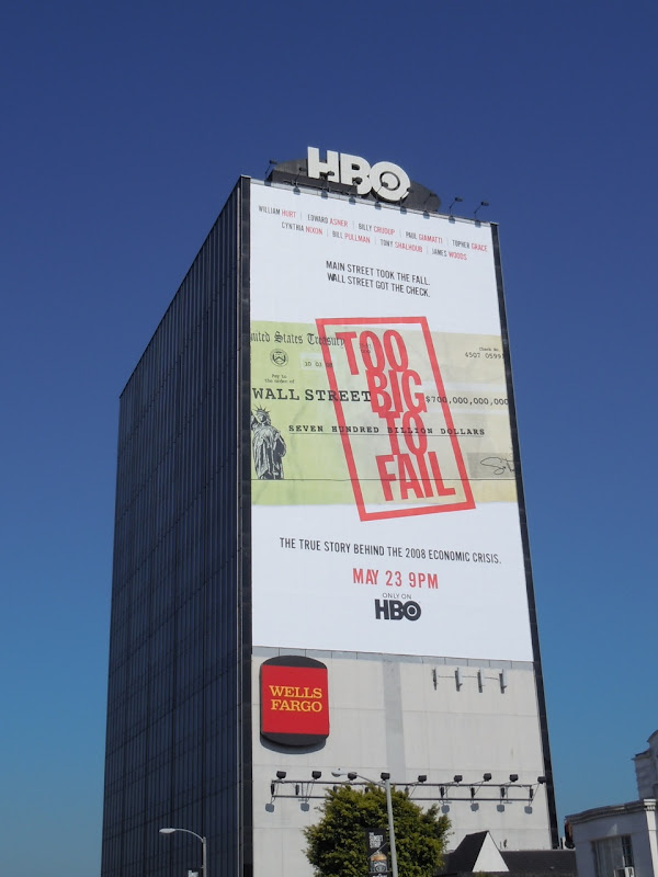 Giant Too Big To Fail HBO movie billboard