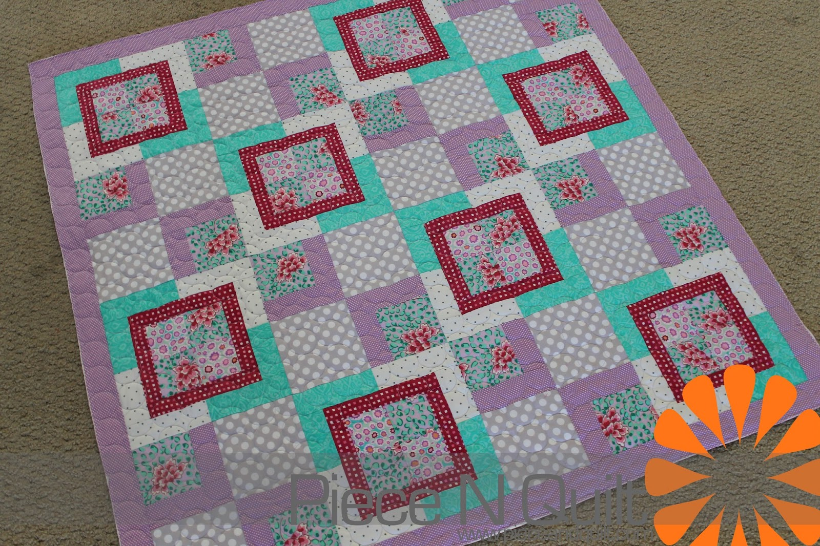 Quilt Patterns For A Girl : Piece N Quilt: Baby Girl Quilt