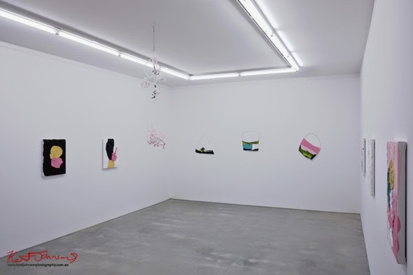 Installation shot, Huseyin Sami's 'The art of ending a conversation' Sarah Cottier Gallery,