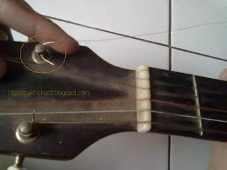 cara memasang senar gitar dengan mudah