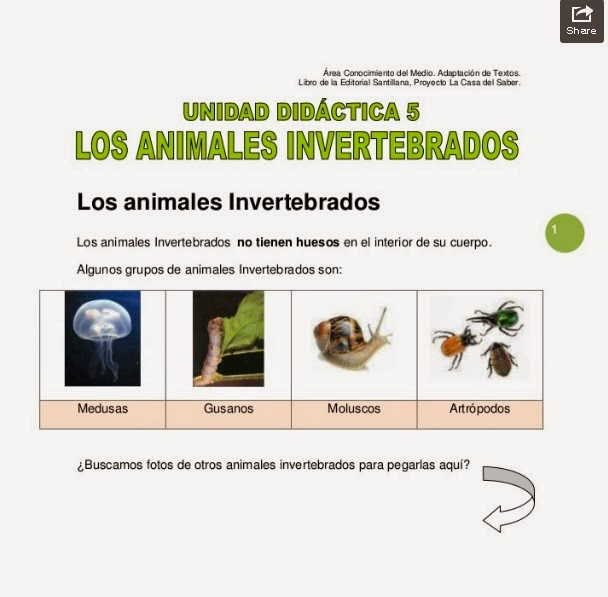 http://www.slideshare.net/janaquevedo/unidad-5-animales-invertebrados