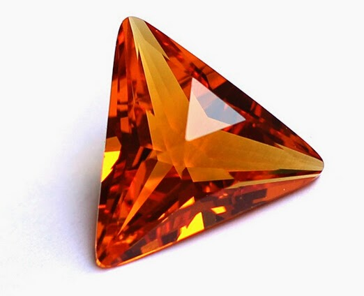 Orange_Red_Color_Triangle_Shape_Cubic_Zirconia_CZ_Stones_China_Supplier