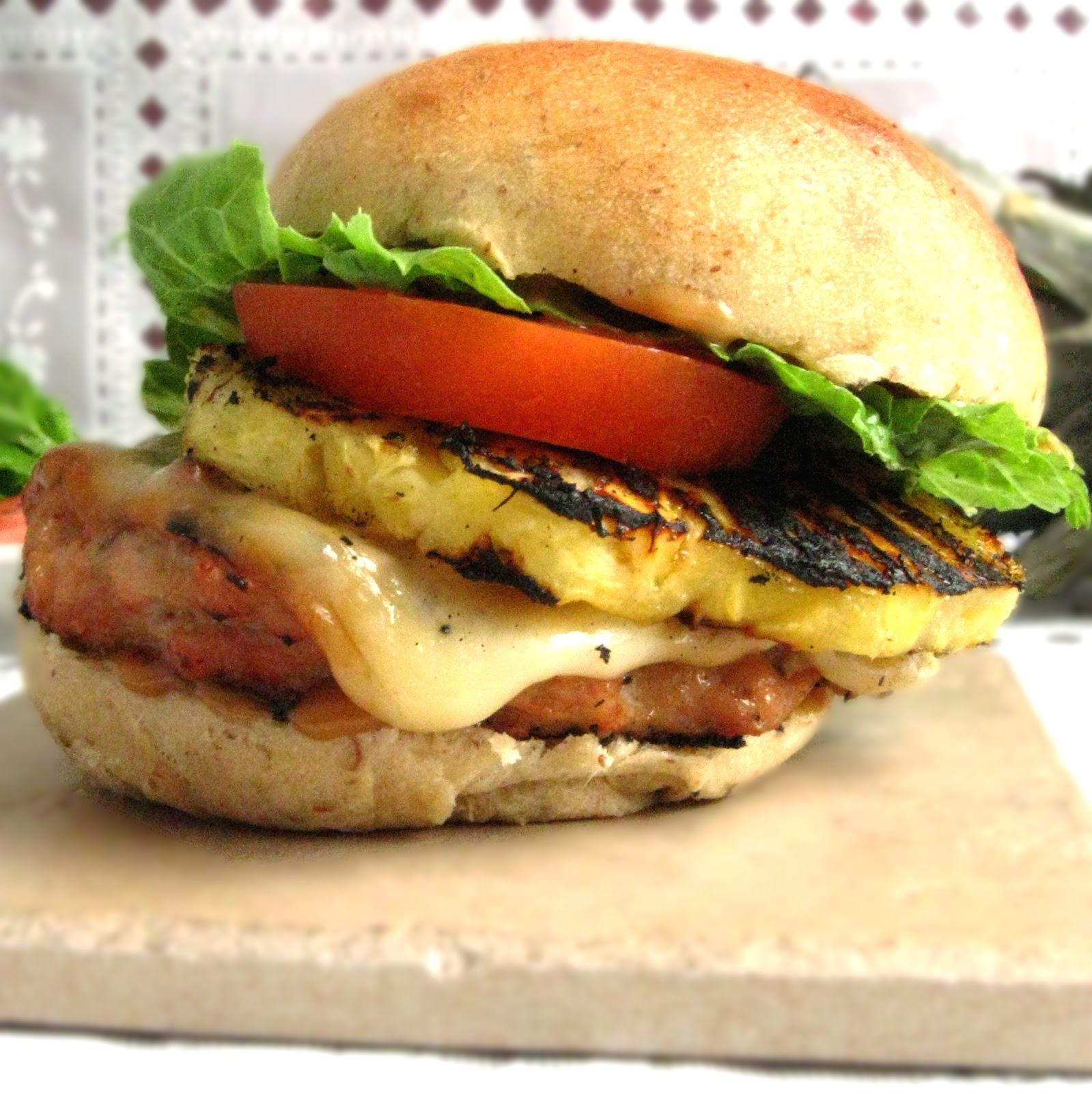 Balancing the table hawaiian chicken burgers for Table burger