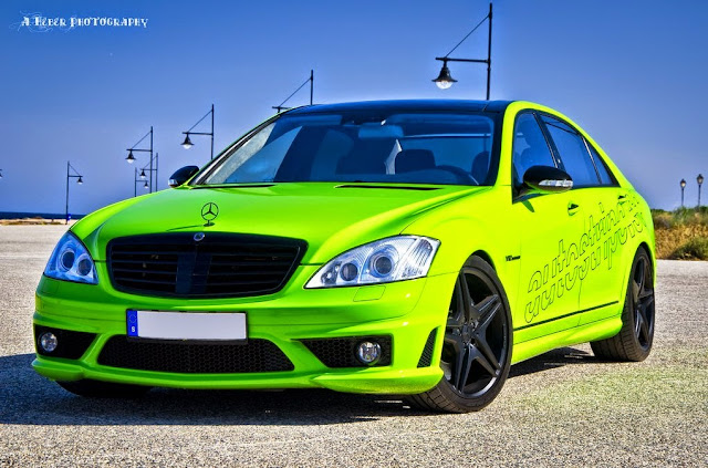 mercedes w221 toxic green
