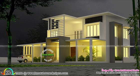5 Bedroom Modern Contemporary Villa Kerala Home Design