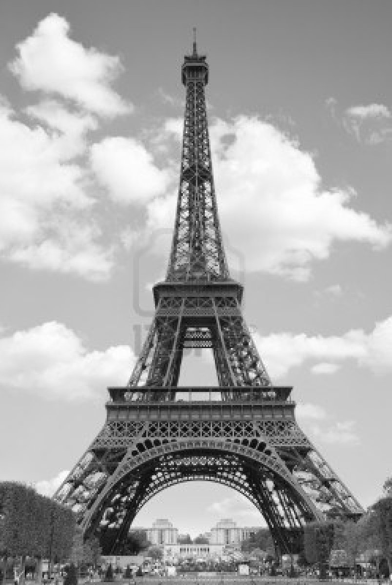 Paris paris black and white for Eiffel tower mural black and white
