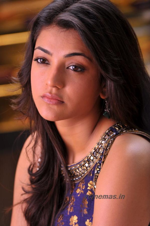 Kajal Agarwal close up - (6) - Kajal Agarwal Blue Dress Photos