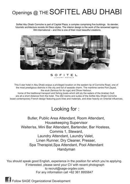 HHRMA HOTEL JOB CAREER VACANCIES