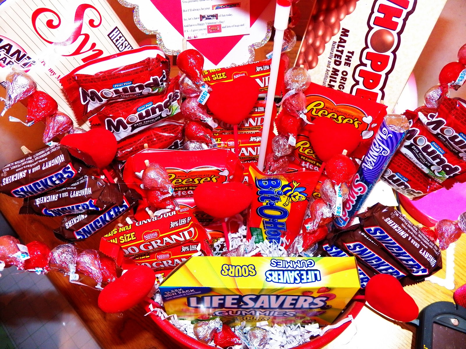 how to make valentine candy bouquets