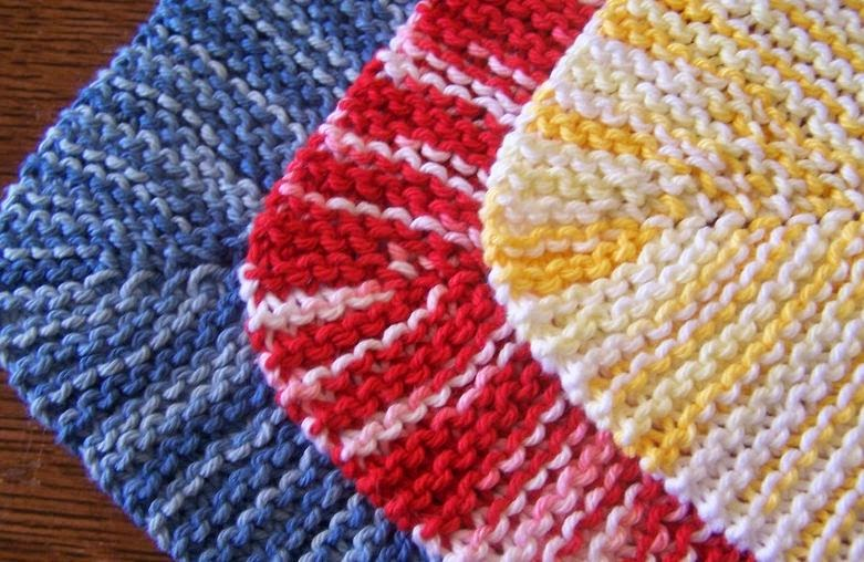 knitting dishcloths patterns