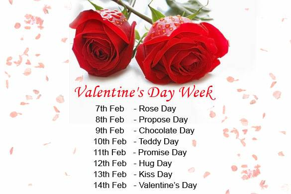 Valentines Week - 8 Important Days and Dates