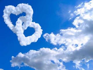 nubes con forma de corazon