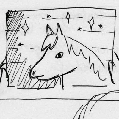 Comicskizze lustiges Pony