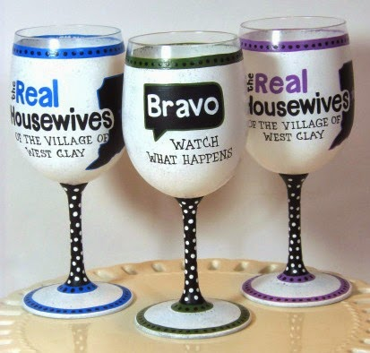 Real Housewives custom wine glasses