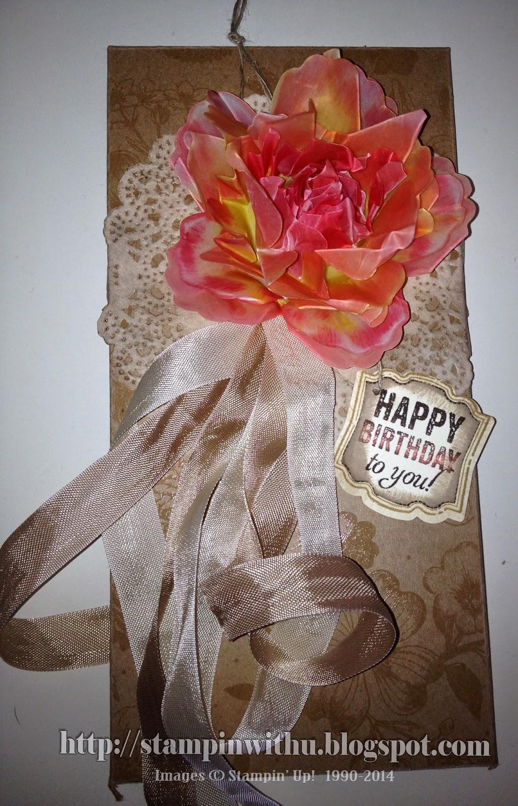 Shabby Chic Velum Flower Chocolate Box