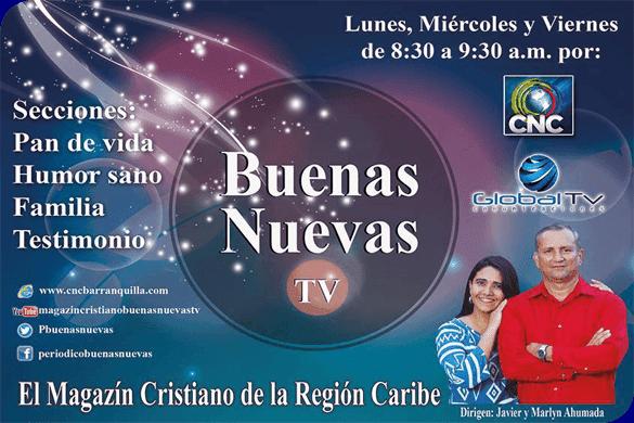 """Afiche del Magazín """"Buenas Nuevas TV"""""""