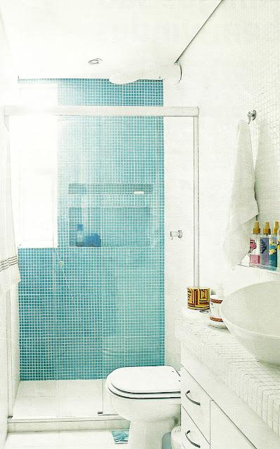 decoracao banheiro nicho : decoracao banheiro nicho:Veja algumas soluções charmosas em banheiros com nichos na parede: