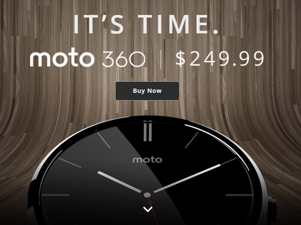 "Moto 360, ""The First Round Smartwatch"" is now available at $249.99 (around Php 11K)"