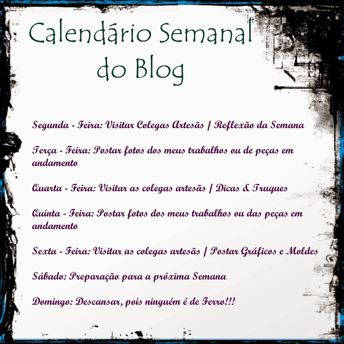 Calendário Semanal