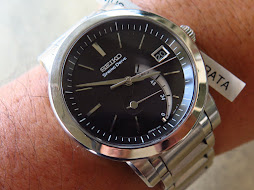 SEIKO SPRING DRIVE BLACK DIAL - POWER RESERVE INDICATOR