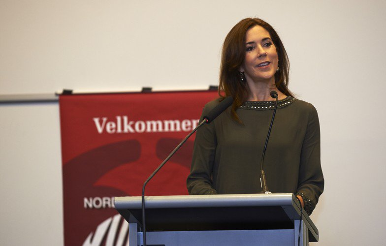Crown Princess Mary delivered the opening speech at the conference, Nordic Women Against Violence in Scandic Copenhagen