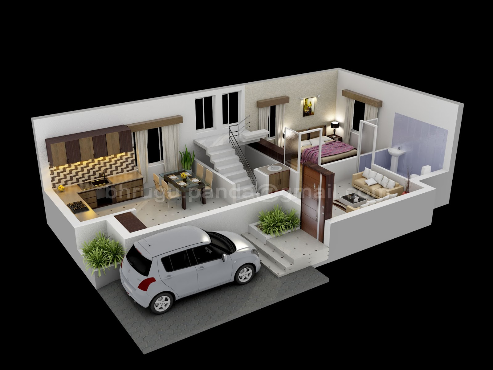 3DS Max Floor Plan on Unique House Plans Ranch Style