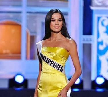 Ariella Arida in Yellow Evening Gown for Miss Universe 2013 Preliminaries