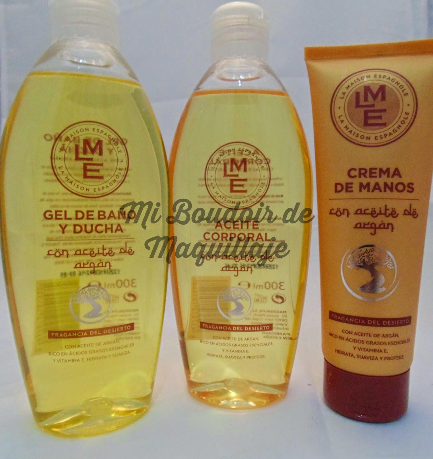 La Maison Espagnole gel, aceite y crema manos Argán