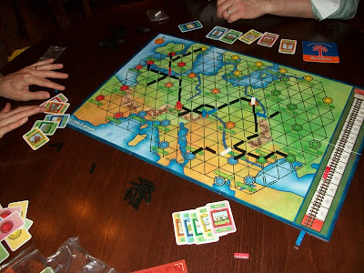 Trans Europa - The game board and components