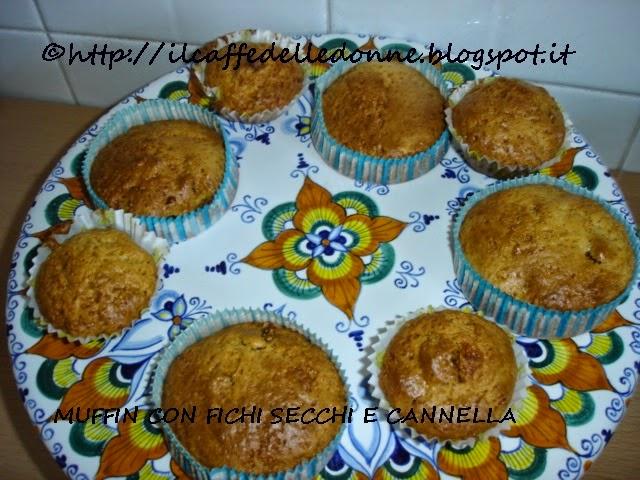 Il caffé delle donne muffin con fichi secchi e cannella