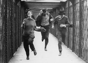 Jeanne Moreau, Henri Serre y Oskar Werner en Jules y Jim