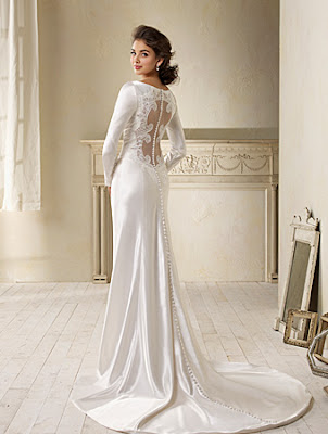 Alfred Angelo Bella's Bridal Gown Back