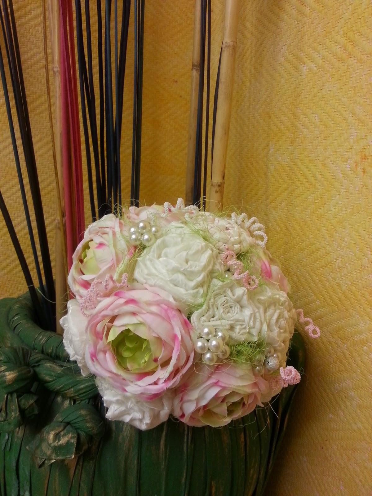 ramo para novia original, en tonos pastel, duradero