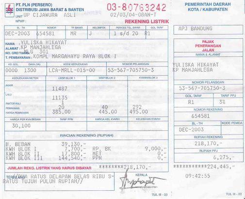 Cara Menghitung Tagihan Biaya Pemakaian Tarif Rekening Listrik PLN