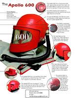 Sandblasting Astro Helmet