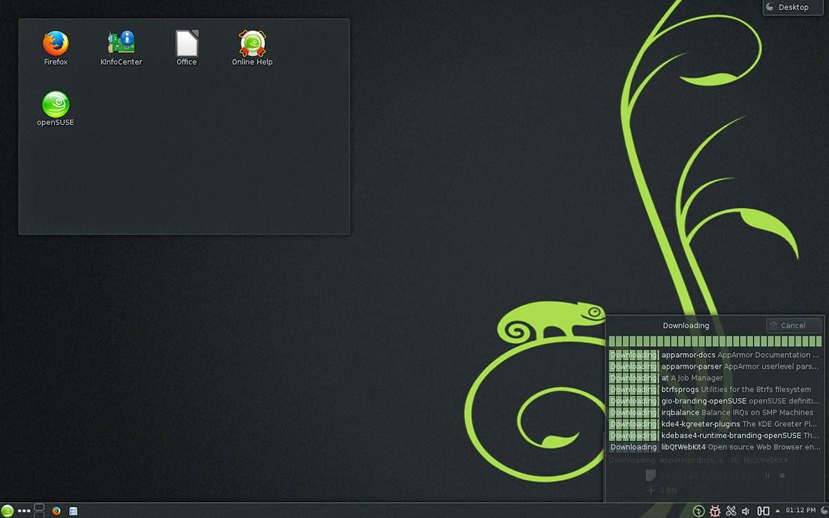 Gambar Desktop OpenSUSE